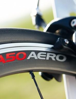Easton's EA50 Aero wheels are excellent rolling stock too