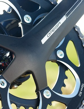 FSA's budget crank uses a thinner axle than most and flex is obvious when stamping hard