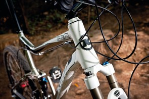 Tapered head tube provides additional frame stiffness