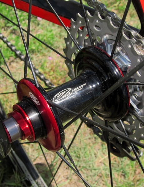 The Zipp rear hub is finished to match the FOIL Team Issue's paintjob