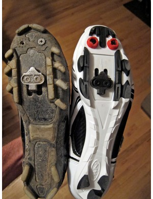 Cleat adjustment range seems to vary depending on the size.  While one tester had no problem getting things properly placed on his size 43.5 samples, the slots on the size 45 pair were 5-10mm further forward than other shoes from Shimano, Specialized, or Pearl Izumi