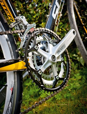 The triple chainset gives a wide spread of gears from only an 8-speed block