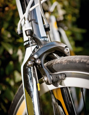 Longer stays and deep drop brakes mean room for mudguards, and there are rack mounts too