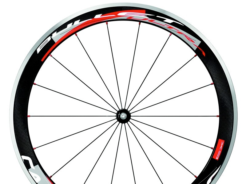 Campagnolo's Bullet Ultra 50mm wheel with standard graphics