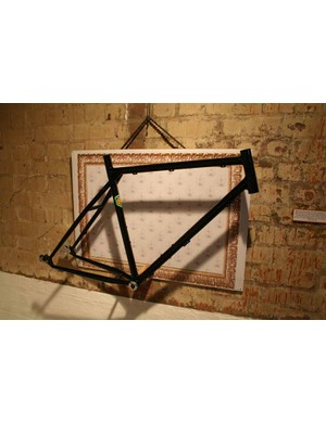Also from Kajak was this 26in-wheeled touring frame, designed to take a Rohloff hub gear