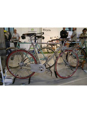 Sticking with the retro theme, Lee Cooper Custom Frames had this glistening silver machine on their stand