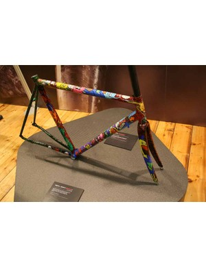 The most eye-catching thing on the Enigma stand, however, was this EspritGraffeTi - a titanium frame with custom enamel paintwork by graffiti artist X-Carter