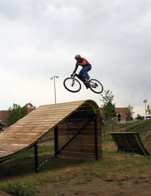 The XL line on the slopestyle course