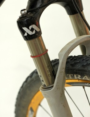 Our test fork came with RockShox' hydraulic X-Loc remote lockout damper