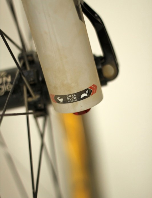 The Dual Flow rebound damper is the most noticeable damper performance upgrade to the new fork