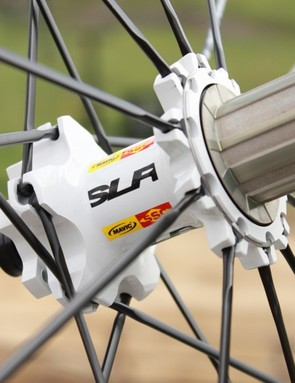 The SLR rear hub features the same 7.5-degree engagement as the SX allowing it to engage 60-percent faster than the current model