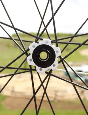 The ST wheelset comes ready for a 15mm through axle, but also 9mm QR and 20mm compatible