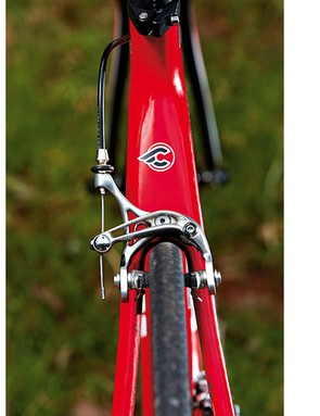 The cinelli gets a tall head-tube and Columbus fork