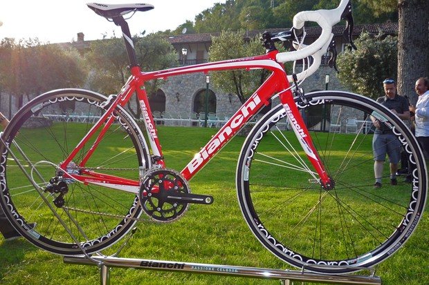 The Impulso is Bianchi's new mid-level aluminium road bike