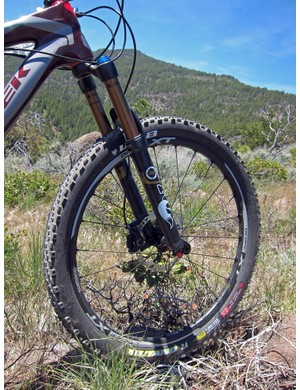 As with XTR, the new Shimano Deore XT wheelsets will be offered in both Trail and Race variants (both in 26in). The Trail model uses 21mm-wide (internal width) rims while the Race model uses slightly lighter 19mm ones - and both are fully UST-compatible with no rim strips required