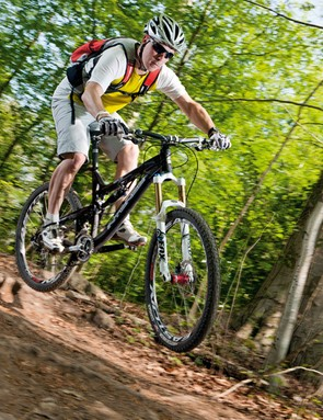 Get used to being in the air as the Tracer hits lines so fast you'll be cruising over a lot of the trail