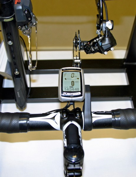 Shimano's long-awaited heartrate-equipped Flight Deck update was on display, but there was no mention of when it is expected to become available