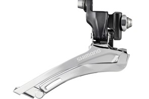 Shimano's 'cross-specific front derailleurs offer both top-pull and bottom-pull designs to suit different frame setups