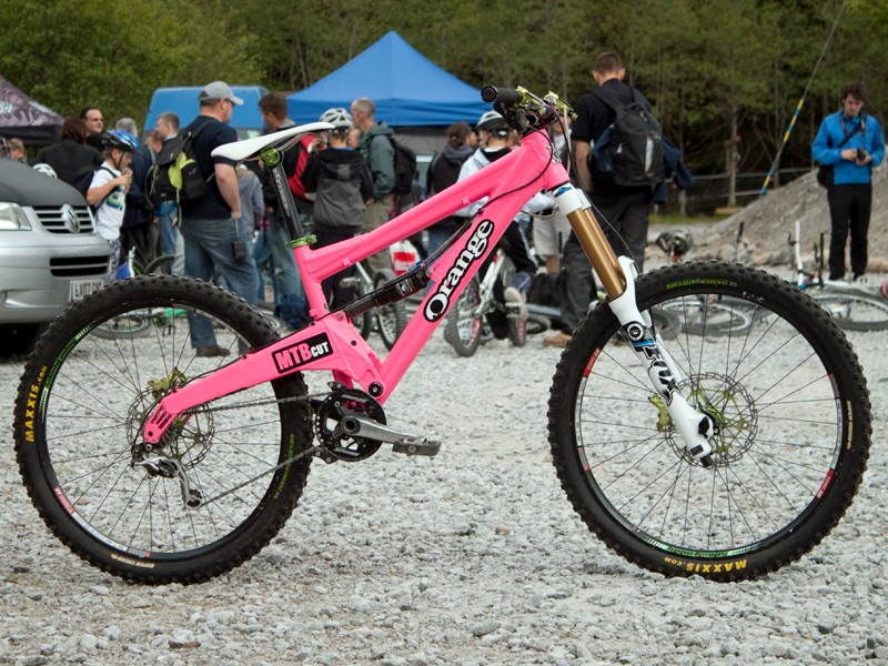 Under the pink paint of team rider Joe Barnes lurks a new Patriot