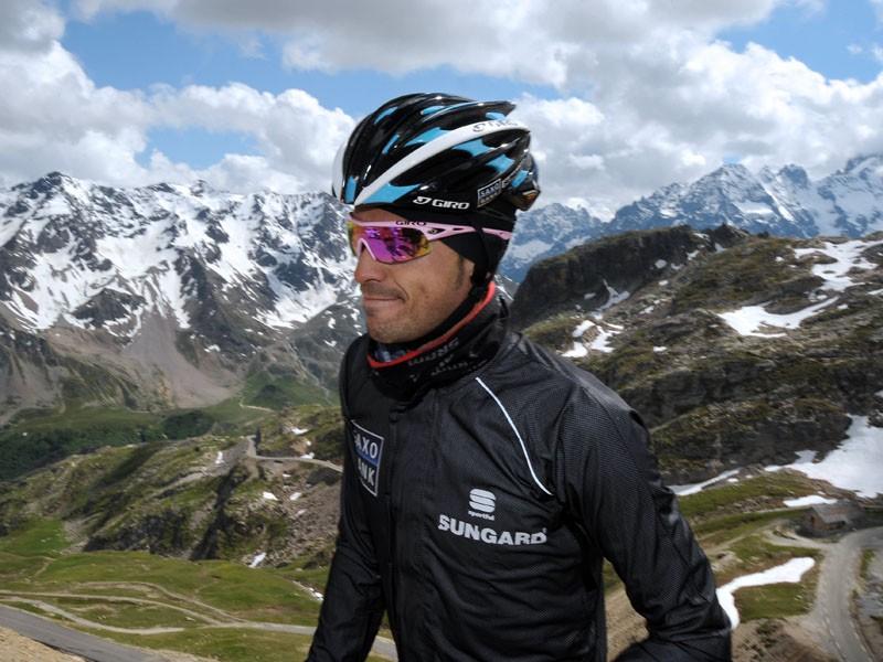 Alberto Contador during his interrupted recce