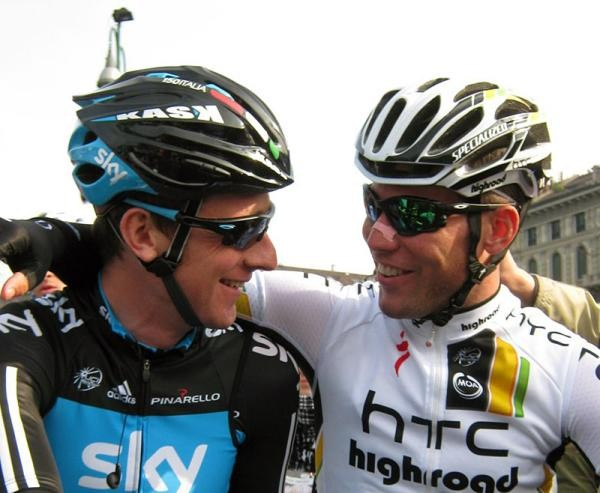 Bradley Wiggins and Mark Cavendish were best buddies before the start of Milan-San Remo this year