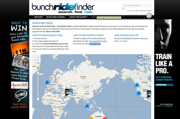 Bunch Ride Finder