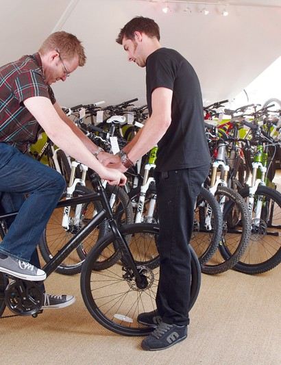 Don't be afraid to ask lots of questions – bike shop staff are a fount of  useful knowledge and advice.