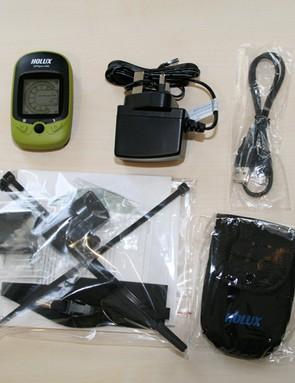 The full HOLUX GPSport260 kit