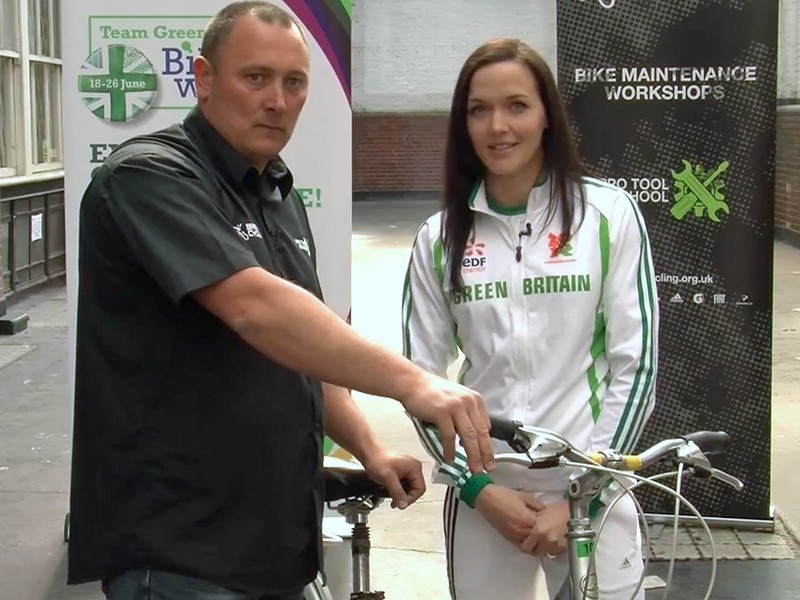 Victoria Pendleton and Peter 'Spike' Taylor have some good advice for aspiring cyclists