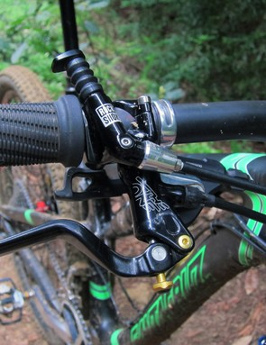 Formula's The One hydraulic disc brakes offer heaps of power and good modulation but the bulky clamp design doesn't play well with others. Thankfully, Santa Cruz recently changed the brake spec to Shimano XTR