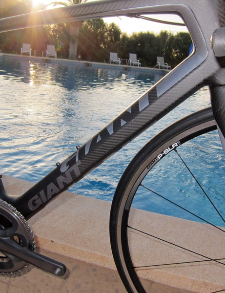 The Defy Advanced SL's down tube is more rounded as compared to the TCR Advanced SL but it's still comparably sized in terms of width and girth.