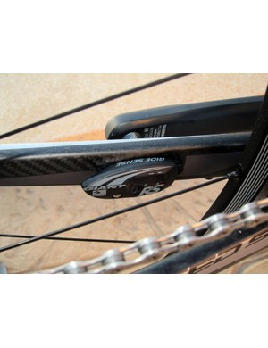 The new Giant RideSense wireless speed and cadence sensor uses the popular ANT+ protocol for easy pairing with compatible computer heads.