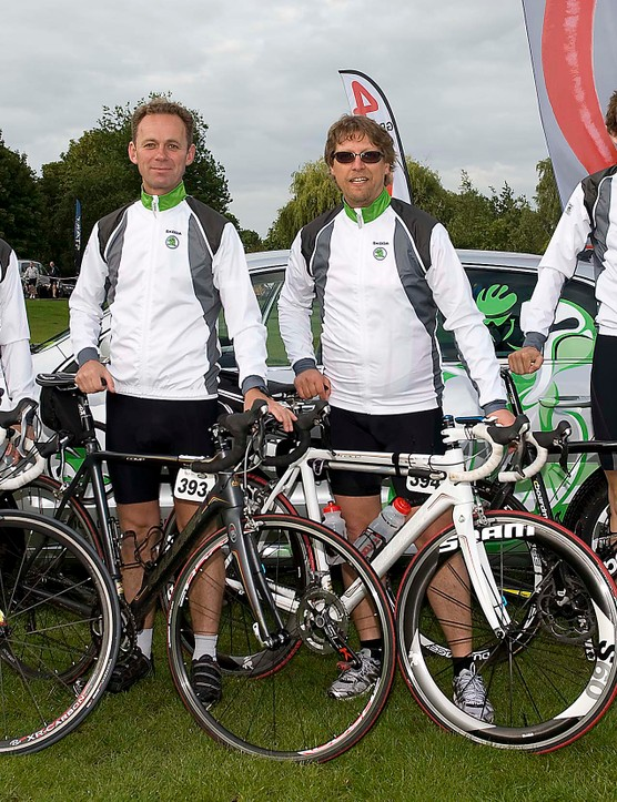 Team Skoda UK (L-R): Kevin Attridge, Martin Love, John Stevenson (Bikeradar) and Henry Catchpole