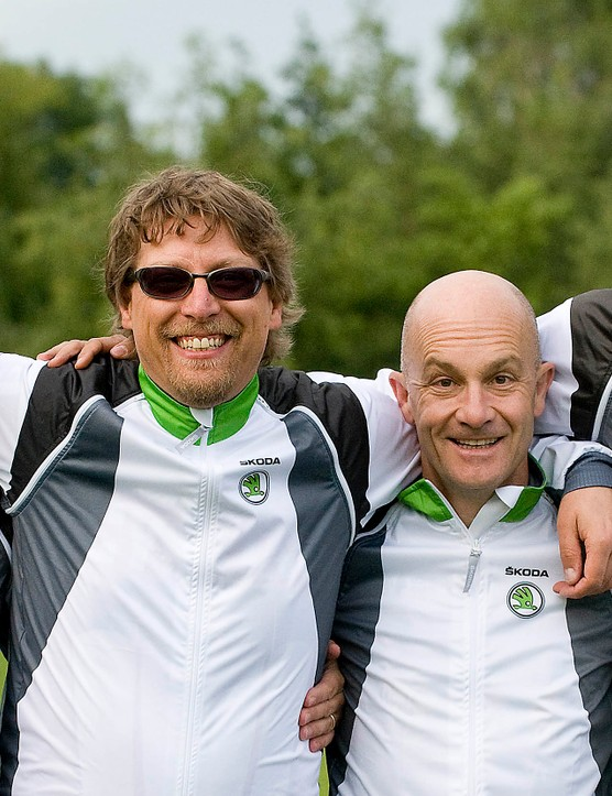 Team Skoda UK (L-R) Martin Love, John Stevenson, Kevin Attridge and Henry Catchpole