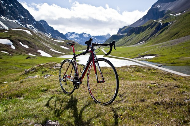 Specialized's new Tarmac SL4, complete with stunning alpine backdrop