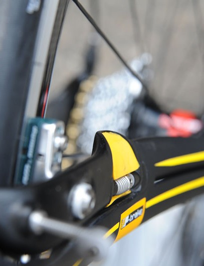 The integrated rear brake on the Ridley Noah FB