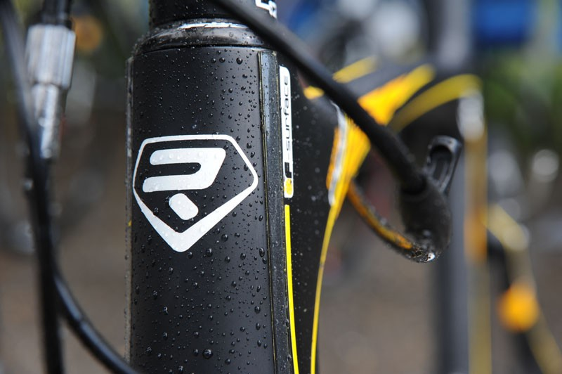 The F-Surface 'go faster strips' on the head tube are said to reduce drag around that area by four percent