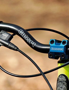 The Gusset bar, stem and brakes combo add to the ride quality