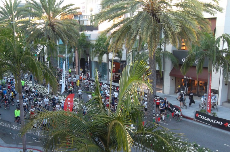 World famous Rodeo Drive was the start for the Los Angeles Gran Fondo