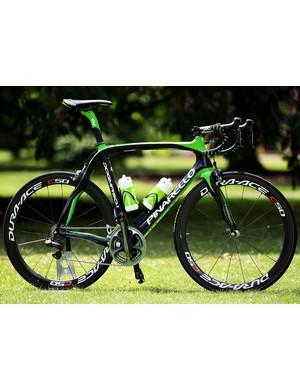 Team Sky's new Pinarello Dogma 2, in rainforest green for the Tour de France