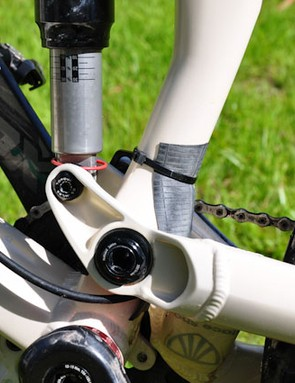 Zip-ties and an inner tube helps keep the muck out of the Stealth mechanism