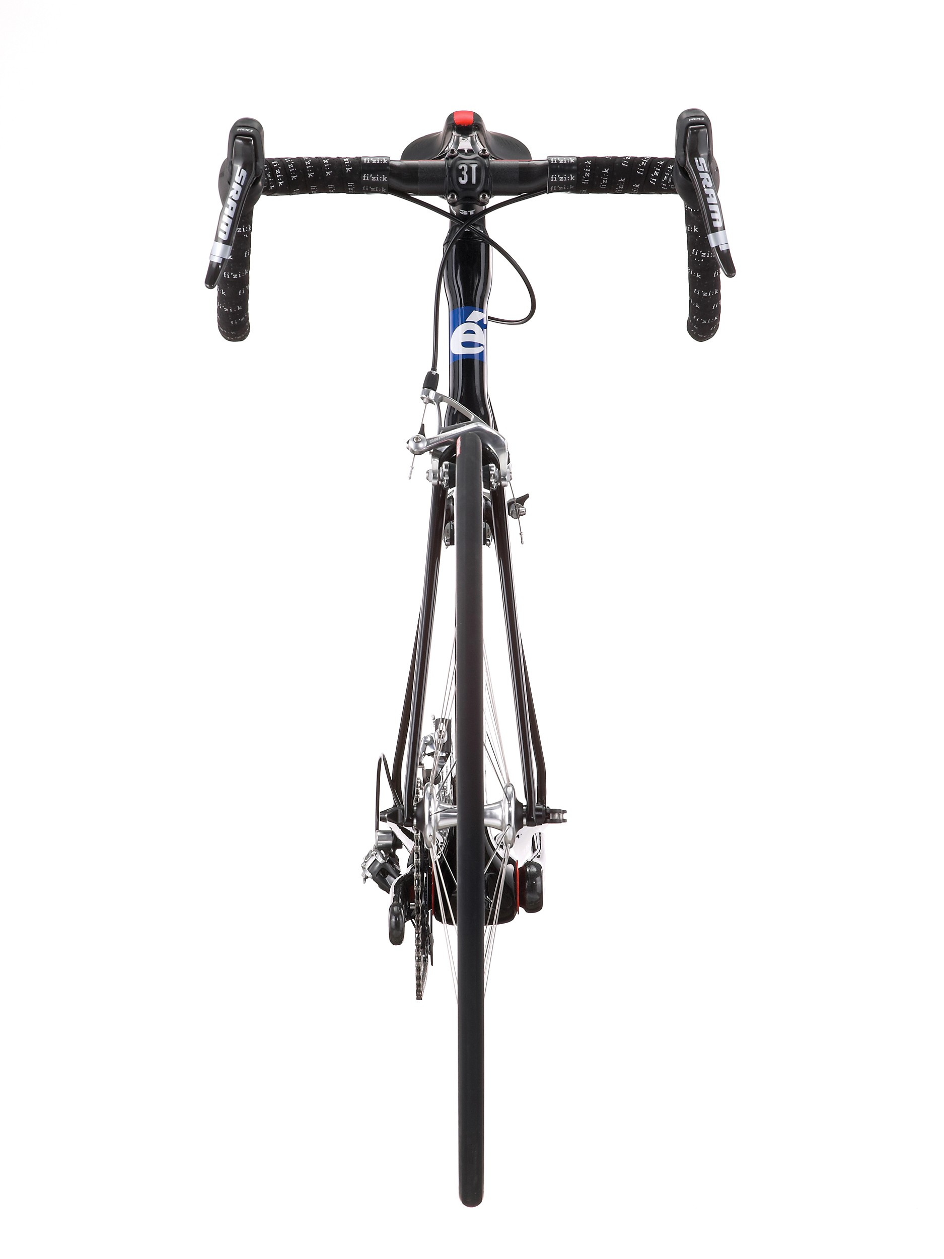 Cervelo sticks with a conventional 1 1/8in steerer to decrease frontal area.