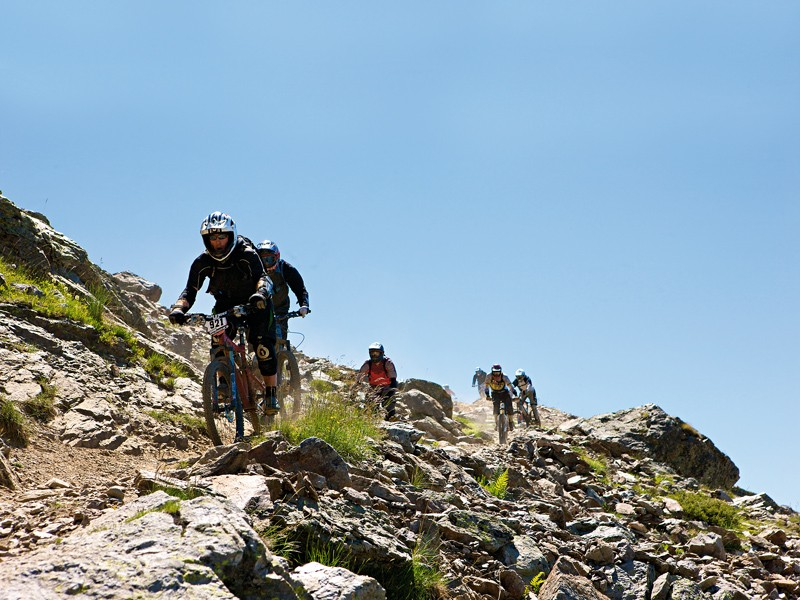 The annual Megavalanche is a gruelling test of man and machine
