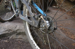 The rear brake mounts direct to a 160mm post mount