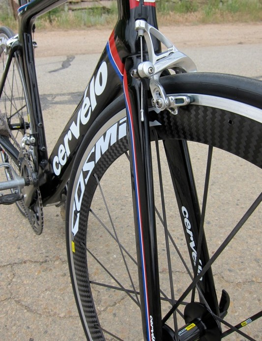 The S5's fork is of Cervelo design; the S3 uses 3T's Funda