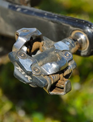 2011 Shimano M980s are Riddle's pedal of choice