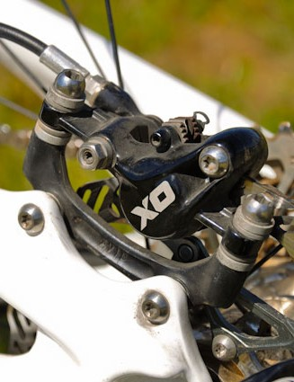 Don't be surprised if a set of BlackBox Avid Code calipers make their way onto Riddle's ride, but X0 brakes are what currently stop him