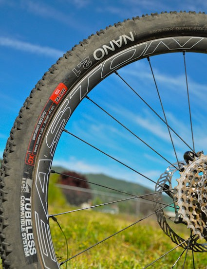 A combination of 2.1in WTB tires and carbon Easton Haven rims help keep Riddle's 150mm-travel bike under 25lb