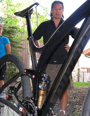 Carla Hukee and Chris Sugai introduce Niner's new bike