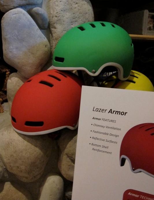 Lazer's top-level bucket helmet, the Armor